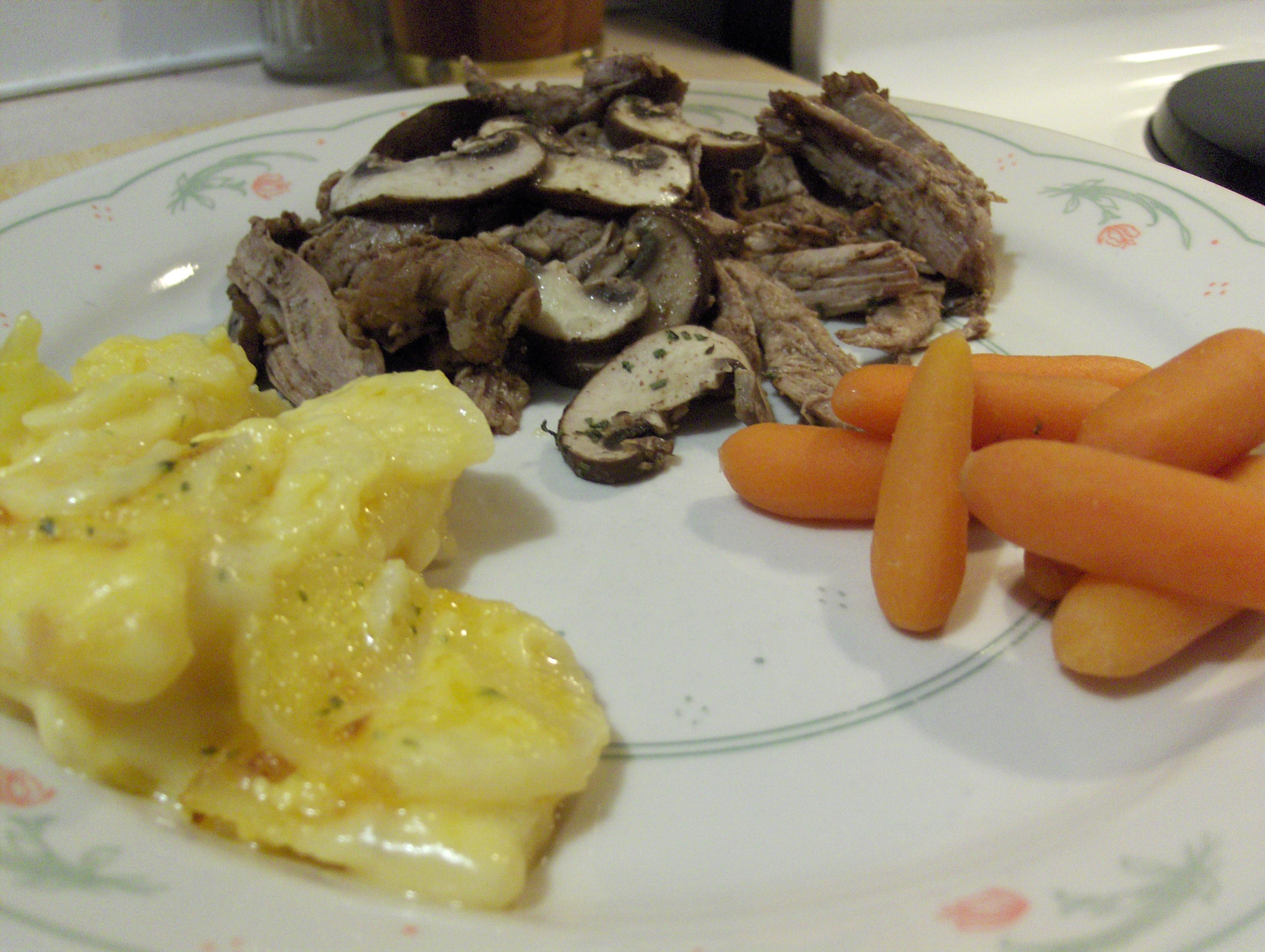 Crock Pot Asian Pork With Mushrooms Recipe — Dishmaps