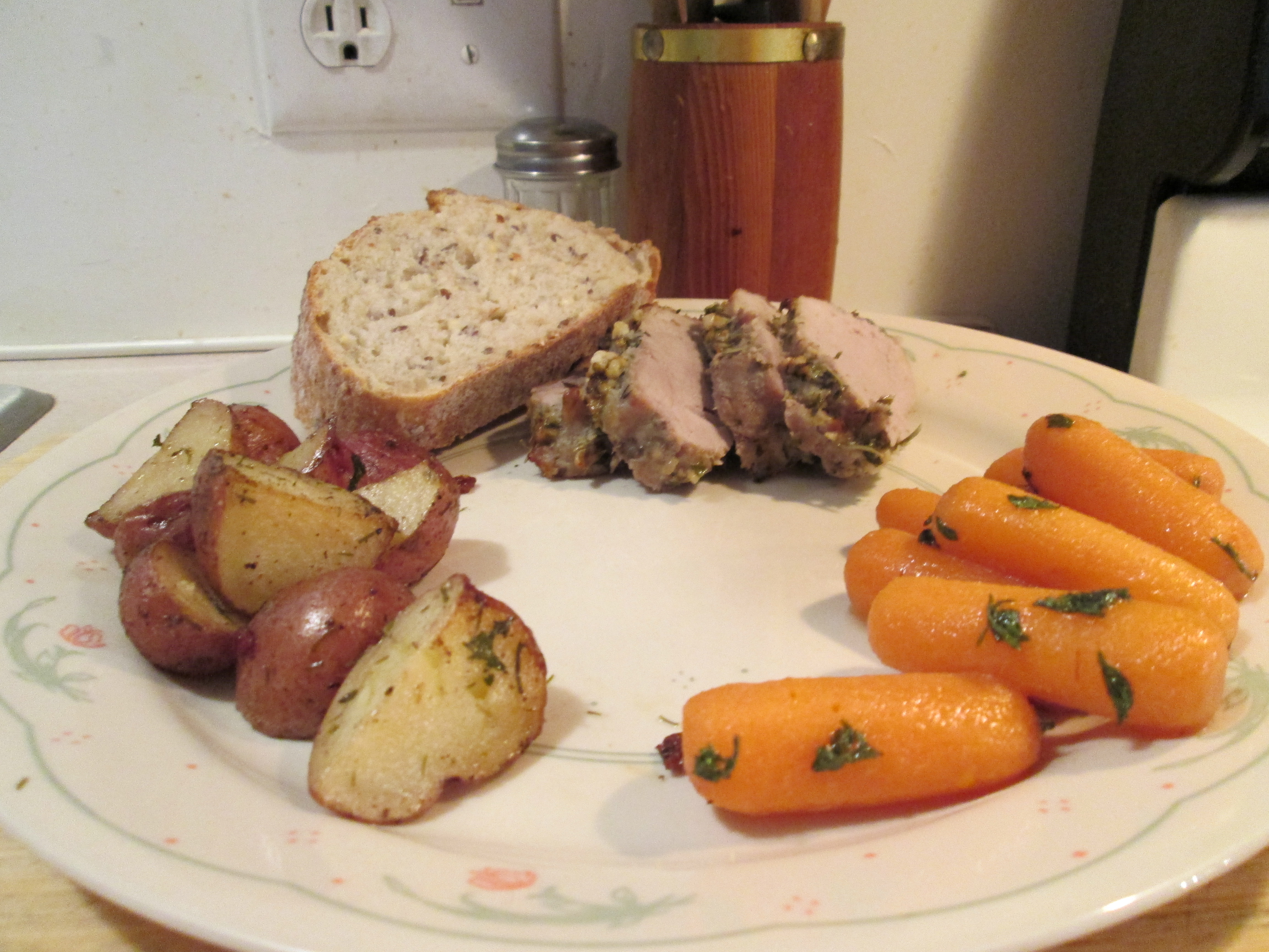 lamb with herb crusted pork loin with herb crusted pork roast potatoes ...