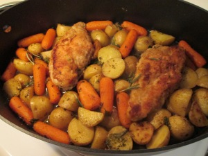 Pan sautee chicken bake 001