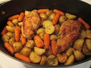 Pan sautee chicken bake 001