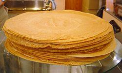 A stack of crêpes