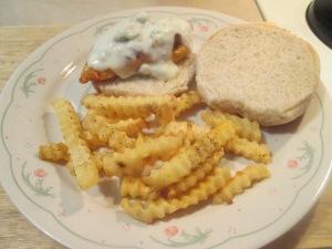 Baked buffalo chicken sandwich 004