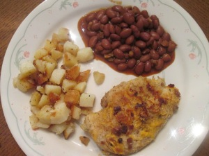 Baked Cheesey Crumb Chick Breasts 006