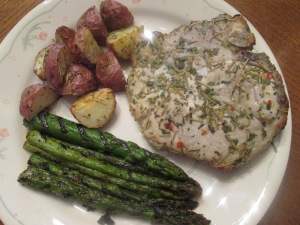 Baked herb chops 005