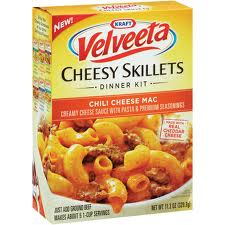 Velveeta Kraft Cheesy Skillete Chili Cheese Mac