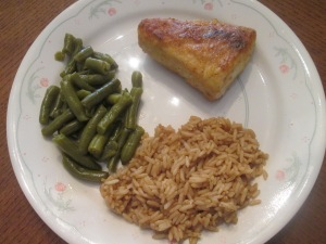 Cobia rice green beans 008