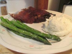 Crock pot ribs Asparagus 003