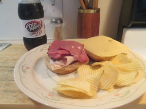 Turkey and Pastrami on Whole Wheat 001