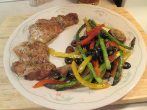 Baked Thighs and Asparagus Medley 002