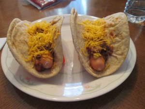Pita Bread Chili Dogs 007