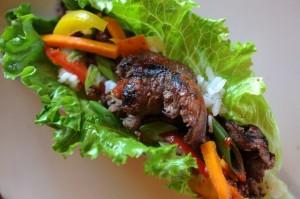 Wild Idea Buffalo Gangnam Style Lettuce Wraps