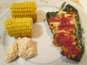 Baked Stuffed Poblano Peppers 006