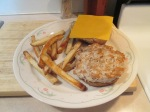 Cheddar Turkey Burger Fries002