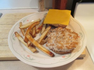 Cheddar Turkey Burger Fries 002
