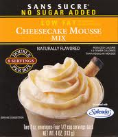 Sans Sucre Mousse Mix - Cheesecake