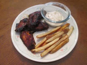 Smokey BBQ Wings and Fries 006