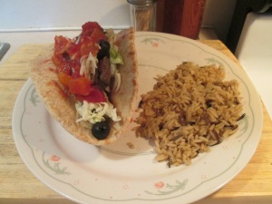Cilantro and Lime Skirt Steak Pita Bread 009