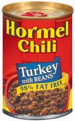 Hormel Turkey Chili w Beans