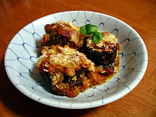 Melanzane alla Parmigiana, or Eggplant Parmesan.