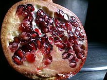 Pomegranate in cross section