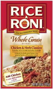 Rice A Roni Whole Grain Blends Chicken and Herb Classico