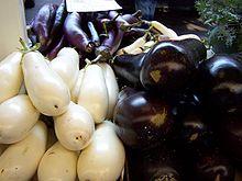 Three varieties of eggplant.