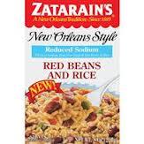 Zatarains Red Sodium Red Beans Rice