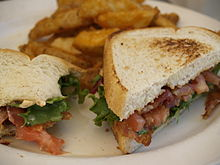 BLT with Potato Wedges