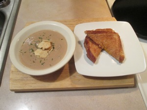 Grilled Cheese and Mushroom Bisque 003