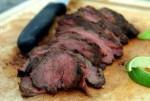 Wild Idea Buffalo  Jerk Marinated Tri-Tip Roast with BulgarSalad