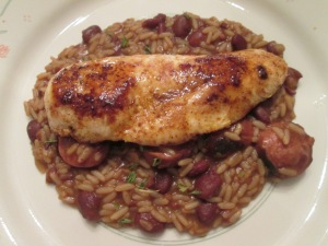 Cajun Chicken Turk Saus Red Beans Rice 006