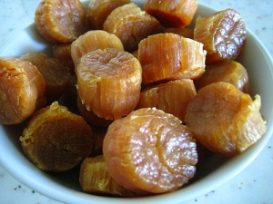 Dried scallops, also known as conpoy