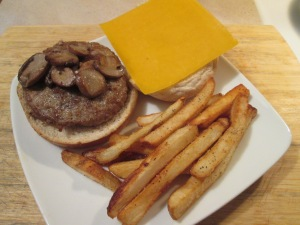 Turkey Burger Cheese Mushroom 006