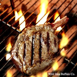 Wild Idea Buffalo Bone In Ribeye Steak