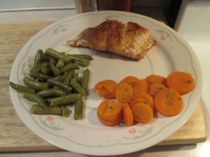 Blackened Grouper Carrots Green Beans 001