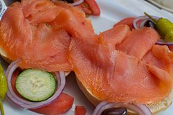 Lox on bagel