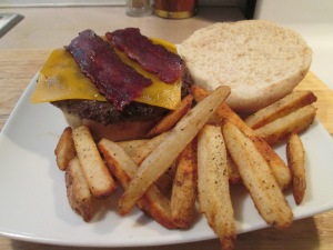 Turkey Bacon Cheese Buffalo Burger 009