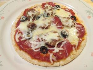 Turkey Sausage Pizza 004