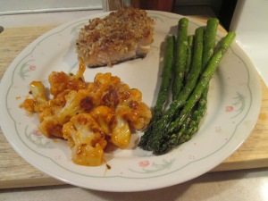 Walnut Crusted Salmon Buffalo Cauliflower 001