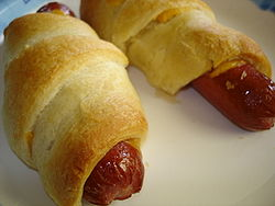 American-style pigs in a blanket