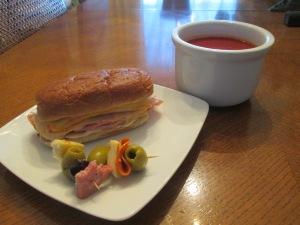 Ham Turkey Baked Sub Tomato Soup 009