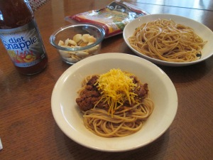 3 Bean Buffalo Chili Spaghetti 006