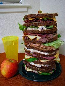 A Dagwood sandwich