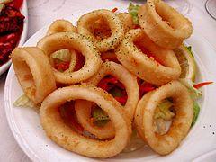 Fried calamares