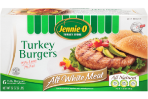 Jennie O Turkey Burgers - All White Meat