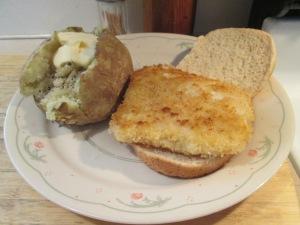 Panko Cod Baked Potato 001