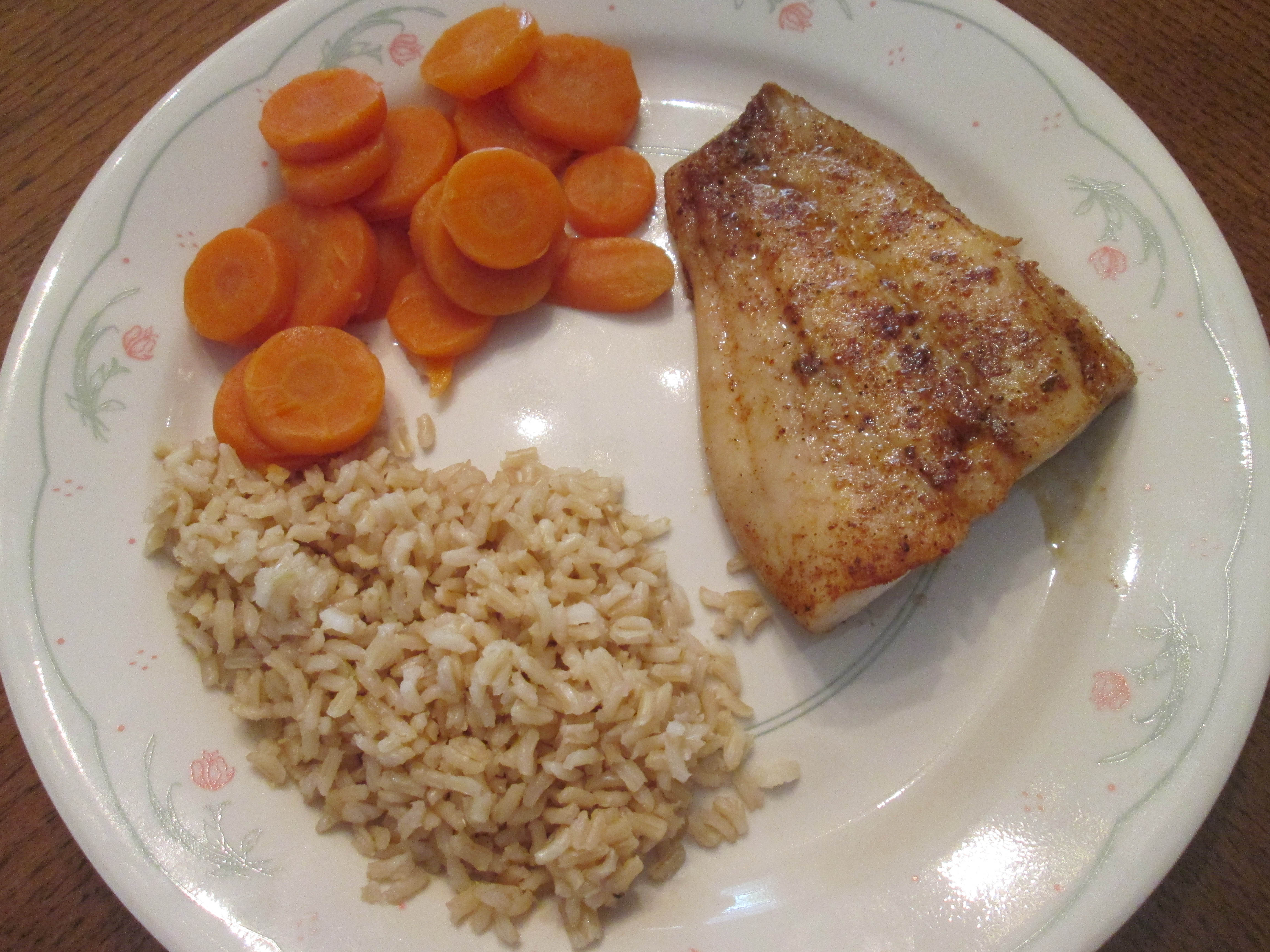 Today's Menu: Blackened Red Snapper w/ Whole Grain Brown Rice and ...