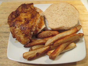 Blackened Tilapia Sandwich Fries 007