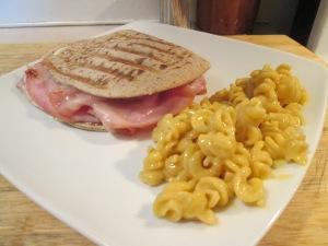 Ham Panini mac and cheese 007
