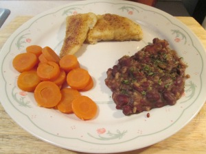Seasoned Haddock Red Beans Rice 001